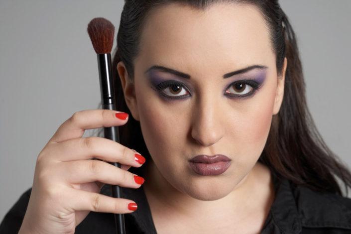 Portrait of a make-up artist