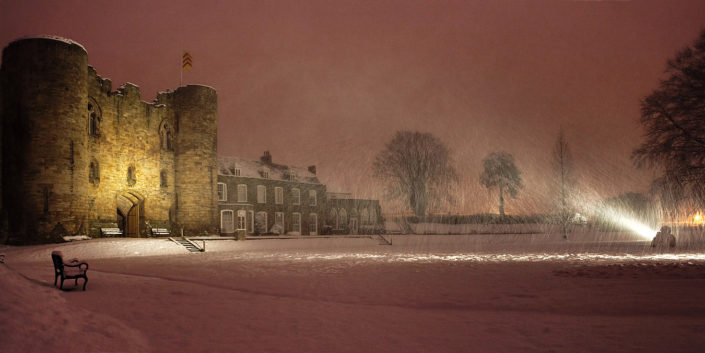 Tonbridge Castle In The Snow by Chris Marwood Photography
