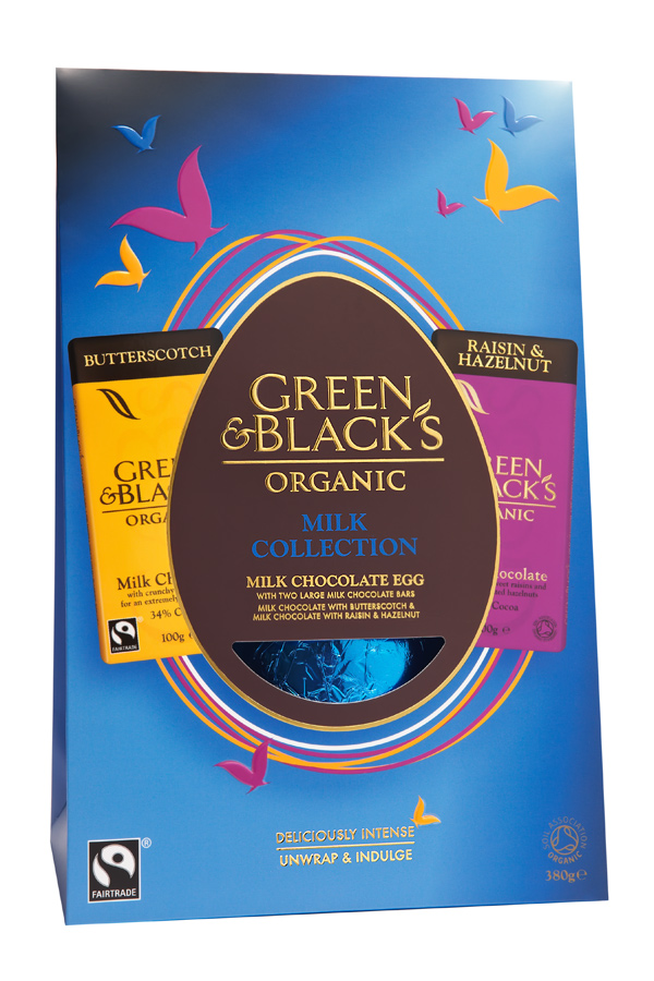 Packshots Tonbridge Green and Blacks Easter Eggs