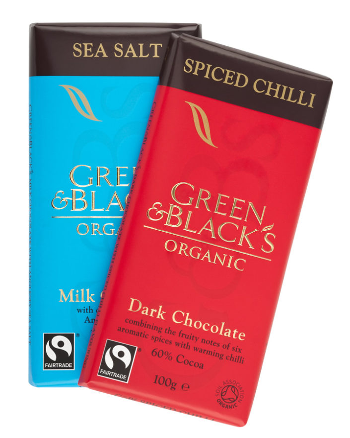 Packshots Tonbridge Green and Blacks Chocolate