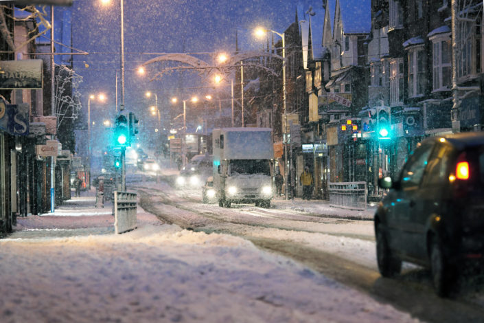 Tonbridge High Street In The Snow by Chris Marwood Photography
